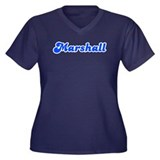 Retro Marshall (Blue) Women's Plus Size V-Neck Dar