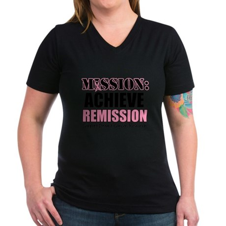 Mission Remission BC Women's V-Neck Dark T-Shirt
