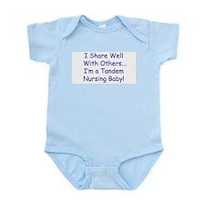 "Tandem Nursing ""I Share Well!"" Infant Creeper"