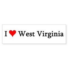 I Love West Virginia Bumper Bumper Sticker