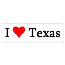 I Love Texas Bumper Bumper Sticker