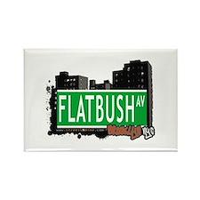 FLATBUSH AV, BROOKLYN, NYC Rectangle Magnet