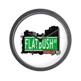 FLATBUSH AV, BROOKLYN, NYC Wall Clock