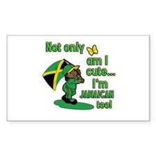 Not only am I cute I'm Jamaican too! Decal