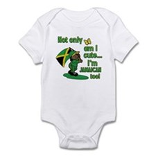 Not only am I cute I'm Jamaican too! Infant Bodysu