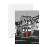 Edinburgh Castle From Grassmarket Greeting Card