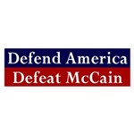 Defend America, Defeat McCain sticker