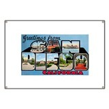 San Diego California Greetings Banner