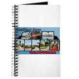 San Diego California Greetings Journal
