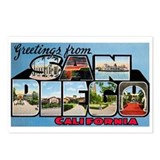 San Diego California Greetings Postcards (Package