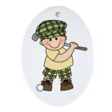 Little Golfer Oval Ornament