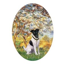 Spring/Toy Fox Terrier Oval Ornament