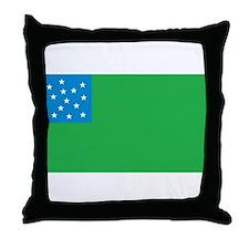 Green Mountain Boys Flag Throw Pillow