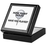 How Many Holes Played? Keepsake Box