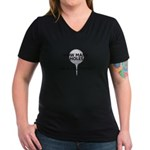How Many Holes Played? Women's V-Neck Dark T-Shirt