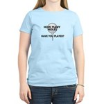 How Many Holes Played? Women's Light T-Shirt