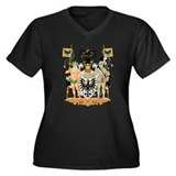 East Prussia Coat of Arms Women's Plus Size V-Neck