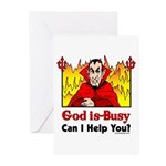 God is Busy Greeting Cards (Pk of 10)