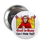 "God is Busy 2.25"" Button (10 pack)"