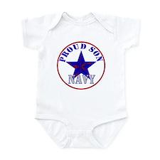 Proud Navy Son Infant Bodysuit