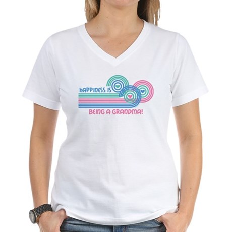 Happiness Grandma Women's V-Neck T-Shirt