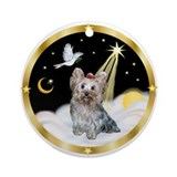 Heavenly Night/Yorkie (T) Ornament (Round)