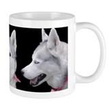 Husky in Pink Coffee Mug