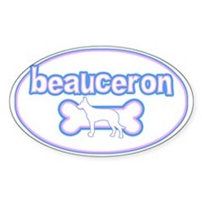 Powderpuff Beauceron Oval Decal