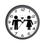 We're Engaged Wall Clock