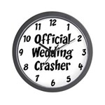 Wedding Crasher Wall Clock