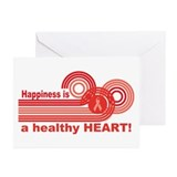Happiness Healthy Heart Greeting Cards (Pk of 20)