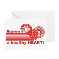 Happiness Healthy Heart Greeting Cards (Pk of 10)