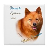 Spitz Best Friend1 Tile Coaster