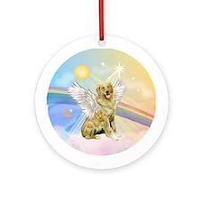 Clouds/Golden Retriever(banjo) Ornament (Round)