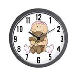 Beary Cute (Girl) Wall Clock