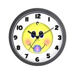 Smiley Baby Wall Clock