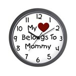 Mommy's Heart Wall Clock