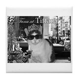 Tuna at Tiffany's Tile Coaster