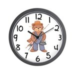 Fishing Bears Wall Clock