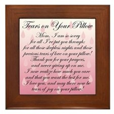 TEARS ON YOUR PILLOW Framed Tile