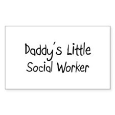 Daddy's Little Social Worker Rectangle Decal