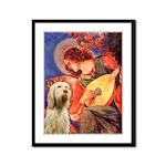 Mandolin Angel /Italian Spino Framed Panel Print