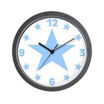Blue Star Wall Clock