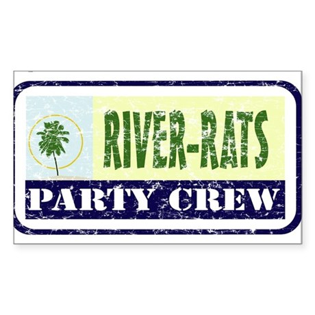 River Rat Rectangle Sticker