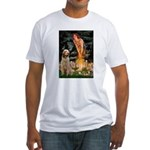 Fairies/ Italian Spinone Fitted T-Shirt