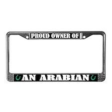 Proud Arabian horse License Plate Frame