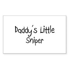Daddy's Little Sniper Rectangle Sticker