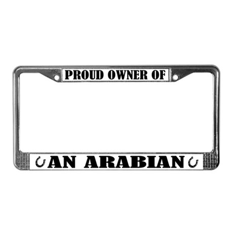 Proud Owner Arabian License Plate Frame