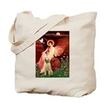 Seated Angel /Italian Spinone Tote Bag