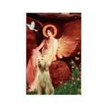 Seated Angel /Italian Spinone Rectangle Magnet